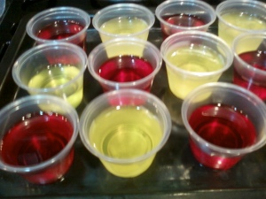 cardinal and gold jello shots