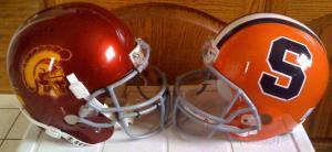 usc and syracuse helmets